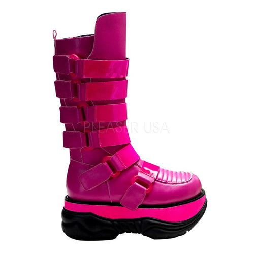 Neptune310 - Pink UV cyber space boots