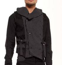 Load image into Gallery viewer, Nightmare Double Breasted pinstripe Gothic Waistcoat