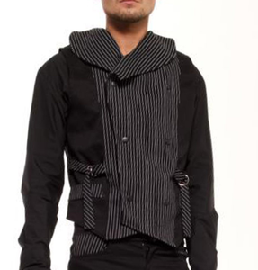 Nightmare Double Breasted pinstripe Gothic Waistcoat