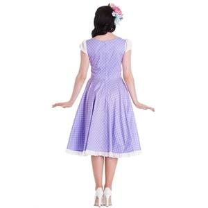 Oktober polka dot swing dress