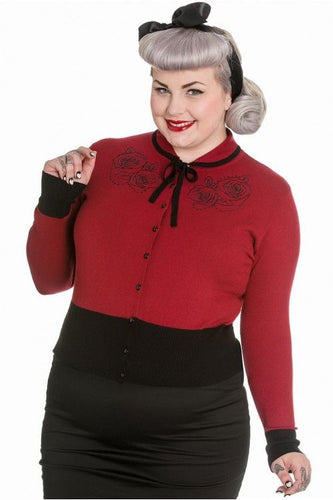 Olivia Rose Rockabilly Gothic Cardigan - PLUS SIZE