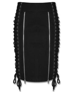 Pixie corset cyber gothic pencil skirt