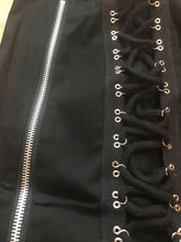 Load image into Gallery viewer, Pixie corset cyber gothic pencil skirt