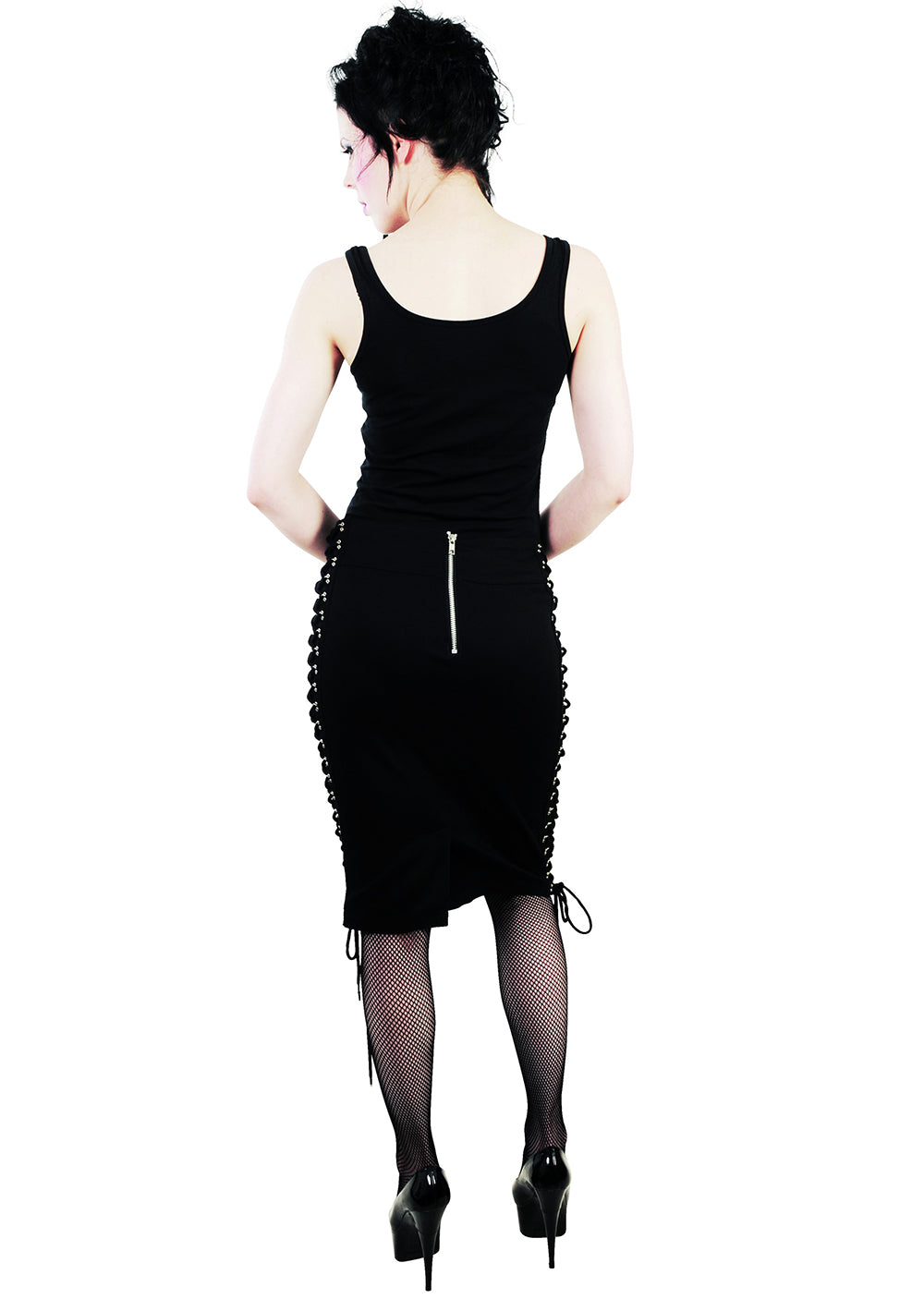 6268790e0 ... Load image into Gallery viewer, Pixie corset cyber gothic pencil skirt  ...