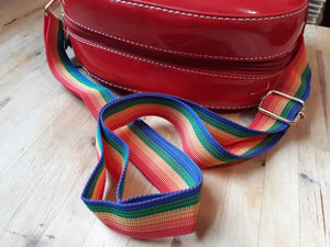 Rainbow heart mini satchel cute shoulder bag