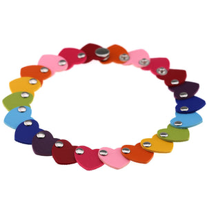 Rave Goth Kawaii Rainbow pride cute Heart collar choker