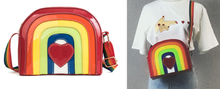 Load image into Gallery viewer, Rainbow heart mini satchel cute shoulder bag