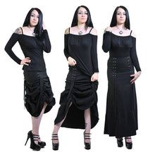Load image into Gallery viewer, Ravanna Long gothic lace up bustle skirt - Plus Size