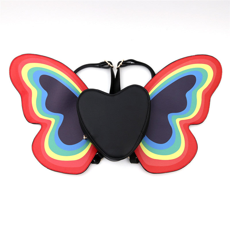 Rainbow butterfly heart fairy festival backpack