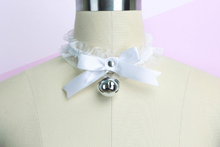 Load image into Gallery viewer, Kawaii Ribbon Bow & Bell Harajuku Lolita Choker - Pink, Black, White