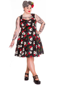Rock N Ruin Skull Swing Dress- Plus Size