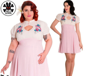 Kyoto Pastel Fan Dress - Plus Size