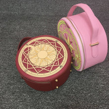 Load image into Gallery viewer, Sweet kawaii round Sakura vanity make up case - ULTRA CLEARANCE - PINK