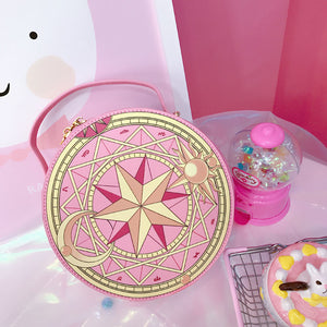 Sweet kawaii round Sakura vanity make up case - ULTRA CLEARANCE - PINK