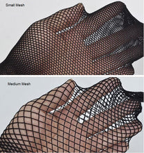 Load image into Gallery viewer, Fishnet pantyhose - full length fish net mesh tights  - Neon fluorescent green lime XS to XXL (8 to 20)