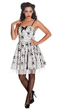Load image into Gallery viewer, Mary Spider gothic rockabilly velvet print mini dress