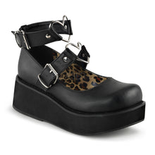 Load image into Gallery viewer, Sprite 02 - Black gothic heart platform shoe