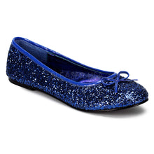 Load image into Gallery viewer, Star16G Blue - Glitter ballet flat shoe