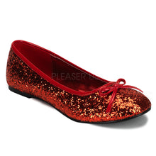 Load image into Gallery viewer, Star16G Red - Glitter ballet flat shoe