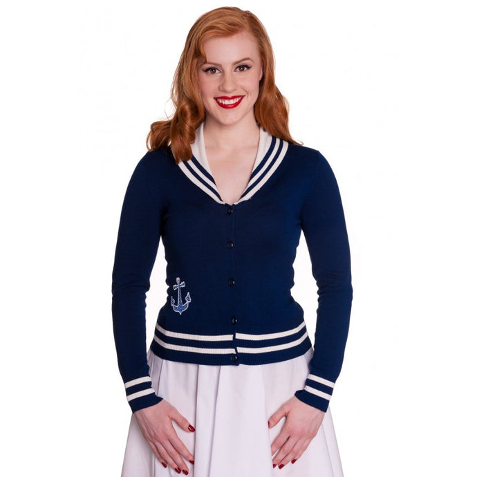 Starboard Sailor Rockabilly Gothic pinup nautical Cardigan - PLUS SIZE