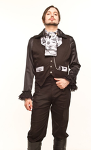 Load image into Gallery viewer, Time traveller steam away with me steampunk waistcoat - XL