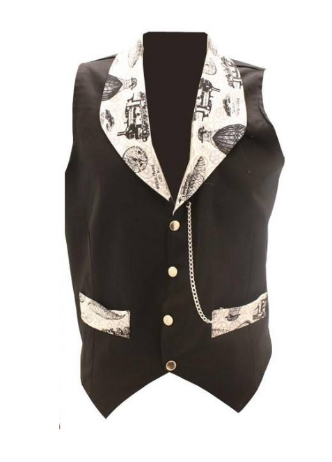 Time traveller steam away with me steampunk waistcoat - XL