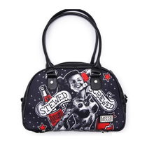 Load image into Gallery viewer, Stewed screwed rockabilly pinup bowling retro handbag