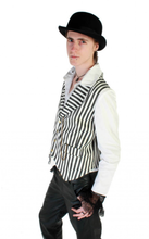 Load image into Gallery viewer, Gothic Steampunk classic stripe waistcoat - red or white