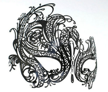Load image into Gallery viewer, Metal filigree elegant gothic masquerade mask - Swan