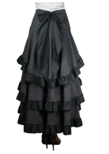 Load image into Gallery viewer, Gothic steampunk bustle 3 layer high waisted dramatic tail skirt - Plus size
