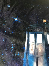 Load image into Gallery viewer, Tardis Galaxy Collar Velvet Dress LIMITED EDITION