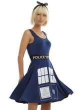 Load image into Gallery viewer, Tardis Jersey Dr Who Tea Dress - Limited Edition