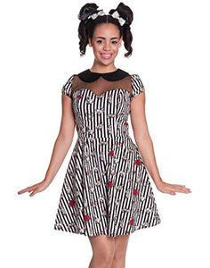 Toto Skull Horror Bunny Stripe Dress