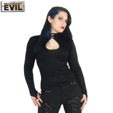 Load image into Gallery viewer, Keyhole collar gothic jersey pointed glove top - Plus size