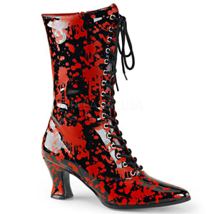 Victorian 120BL - Gothic blood splatter heel boot