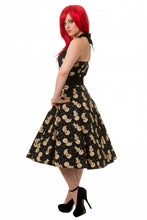 Load image into Gallery viewer, Voodoo doll spooky gothic kawaii halter dress