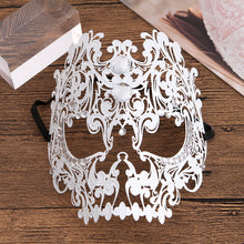 Load image into Gallery viewer, Metal filigree elegant gothic masquerade mask - Skull