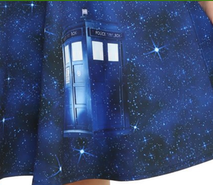 Retro pinup Tardis Galaxy Dr Who Dress LIMITED EDITION (PLUS SIZE)