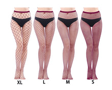 Load image into Gallery viewer, Fishnet pantyhose - full length fish net mesh tights  - Wine Red XS to XXL (8 to 20)