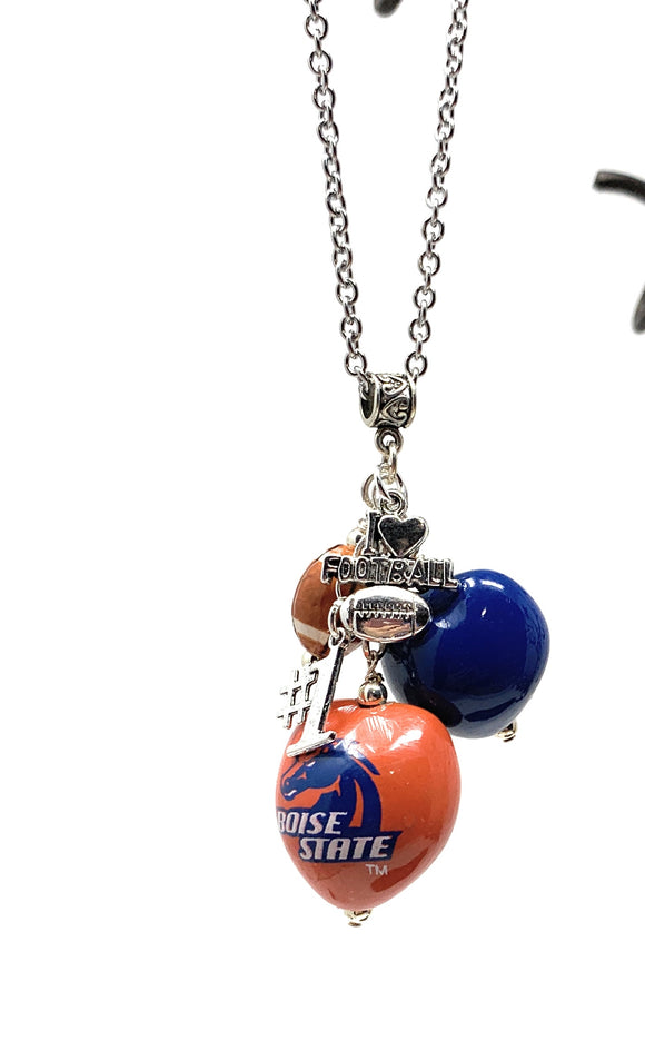 Boise State  Chain Necklace with Charms