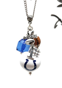 Colts Football Necklace with Charms
