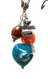 Miami Dolphins Chain Necklace with Charms