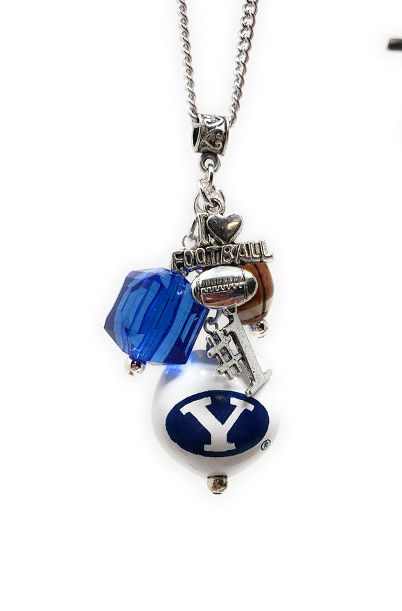 BYU Chain Necklace with Charms