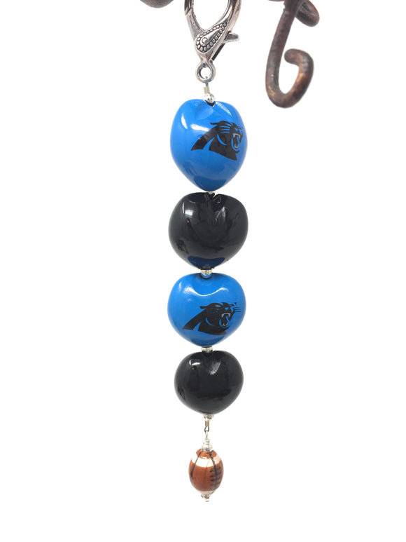 NC Panthers Key Chain
