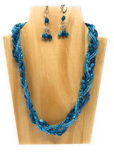 Apatite Braided Necklace Set