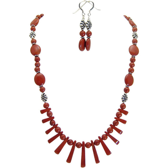 Castle Valley Red Jasper Necklace Set