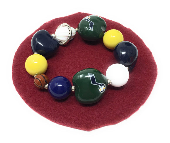 Utah Jazz Basketball Bracelet