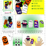 Spooky Halloween DIY Finger Puppet Sewing Project -  - Make & Play DIY - Make & Play DIY