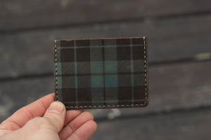 Ready to Ship - Blue Plaid Tama Card Wallet