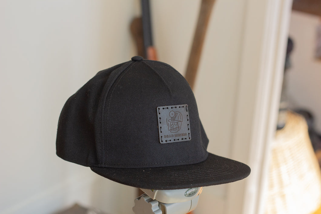 Black Snapback Patch Cap